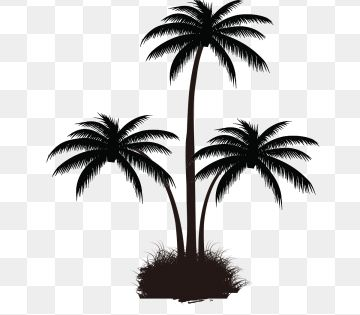 Black Palm Tree Pattern Tree Clipart Coconut Tree Grow Png Transparent Clipart Image And Psd File For Free Download Palm Tree Pattern Tree Painting Tree Clipart