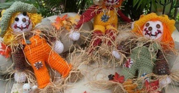 An Adorable Scarecrow - free crochet pattern  Crochet Halloween ...