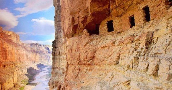 Ancient Caves Grand Canyon Arizona Usa Ancient