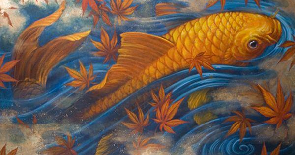 Chris garver painting chris garver koi and tattoo for Dragon koi fish for sale