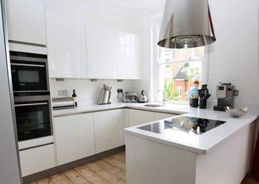 Small U Shaped Kitchen Modern Kitchen Small Modern Kitchens Open Plan Kitchen Living Room G Shaped Kitchen