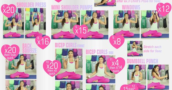 #Tighten and Tone with these VictoriaSecret arm slimming workouts.