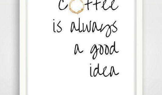 Poster A4 Kaffee für Küche oder als Geschenk