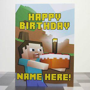 Minecraft Happy Birthday Card Printable Happy Birthday Cards Printable Birthday Card Printable Birthday Cards For Boys