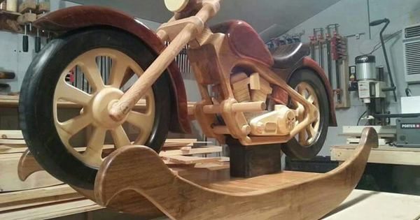 Pin by dave macgyver on wooden motorcycle rocker for Woodworking plan for motorcycle rocker toy