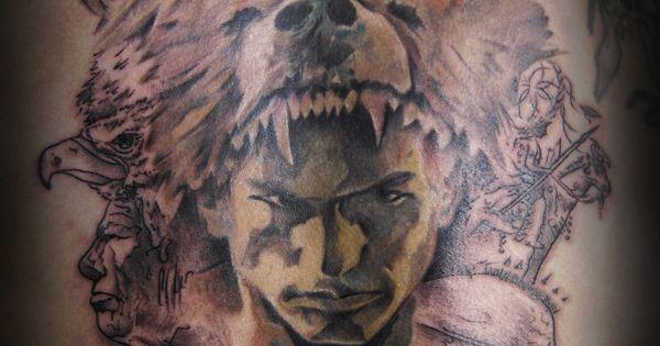 watercolor tattoo bear tatuaje oso el ultimo mohicano watercolor tattoo pinterest. Black Bedroom Furniture Sets. Home Design Ideas