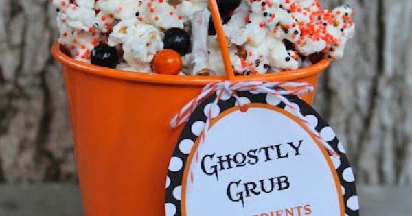 #Halloween Party bloom designs: Ghostly Grub popcorn recipe