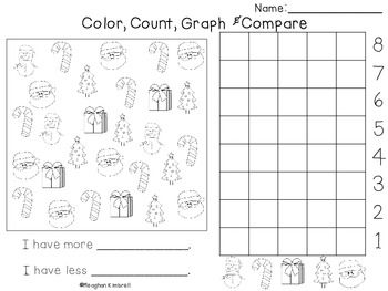 Color Count Graph Compare Christmas Graphing Teaching Math Math