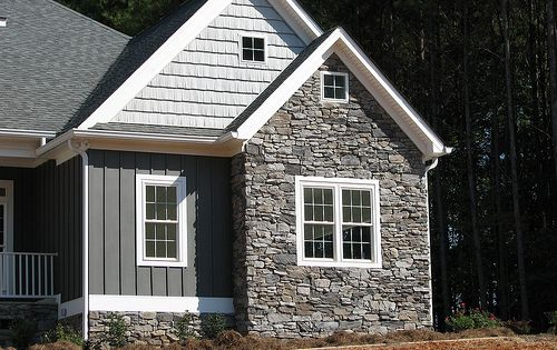 Vinyl siding portfolio batten stone and board for Austin stone siding