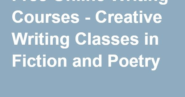 Poetry writing classes