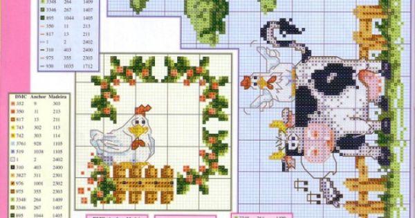 Cross stitch happy farm part 4 22 for Disenos de punto de cruz
