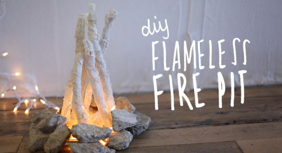 DIY Flameless Fire Pit | This would be cute assembled in a