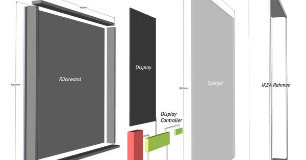 Smart Mirror Selbst Bauen Smarthome Smart Home Automation Home Technology Smart Mirror