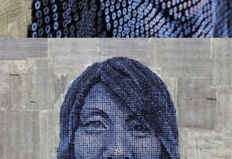 Screw Art ::: Amazing 3D portraits made out of screws by Andrew