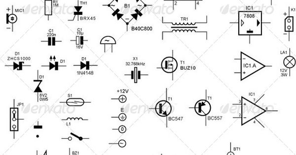 schematic symbols for electronic components