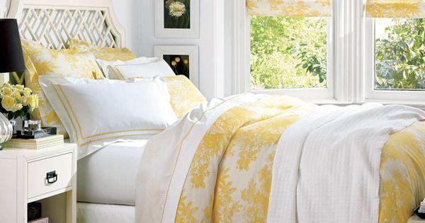 Matine Toile Duvet Cover Amp Sham Sunshine Yellow
