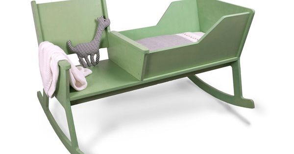 Cute And Comfortable Rocking Chair With Baby Cradle Kids