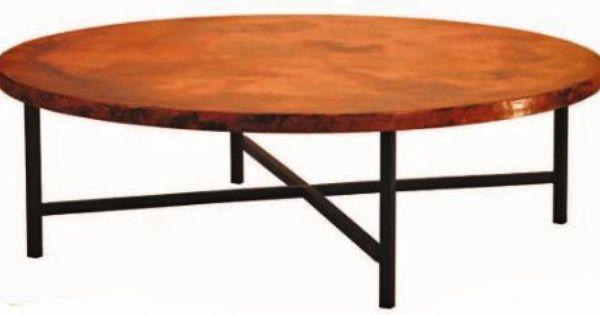 Hand Hammered Copper Coffee Table Copenhagen Base
