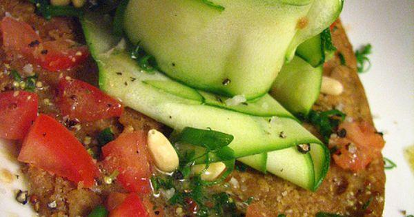 Farinata (Ligurian Chickpea Flatbread) with Zucchini Carpaccio Salad ...