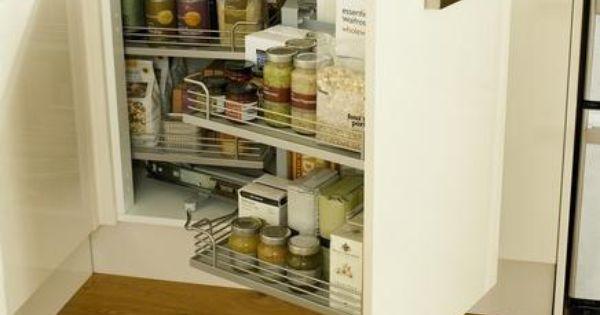 Corner storage unit kitchen storage solutions howdens for Limited space storage solutions