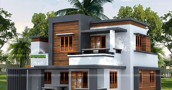 22 5 Lakh Cost Estimated Modern House Modern Style House Plans Kerala House Design Duplex House Design