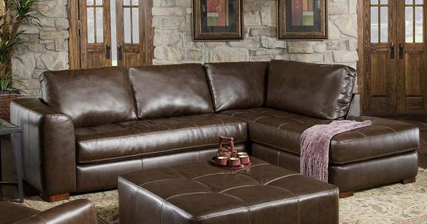 275 contemporary sectional sofa with chaise and ottoman by for Albany saturn sectional sofa chaise