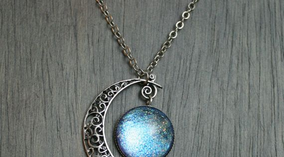 Aurora Moonlight Antique Silver Necklace by moonlightmine Don't Forget to check this