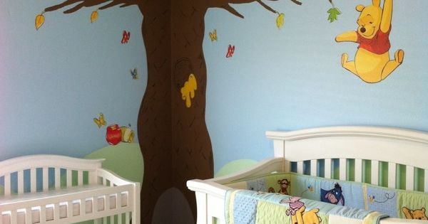 Winnie the pooh nursery priscilla dennis santos chambre for Autocollant mural walmart