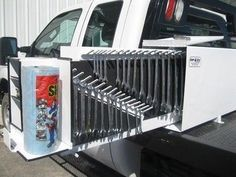 Tool Carrier Headache Rack Re Looking For Drawer Type Tool Boxes To Go Behind Headache Rack Truck Tools Custom Truck Beds Truck Storage