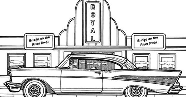 cadillac car coloring pages