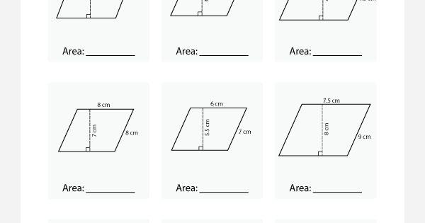 printable area of parallelogram worksheet teacher stuff pinterest worksheets math and. Black Bedroom Furniture Sets. Home Design Ideas