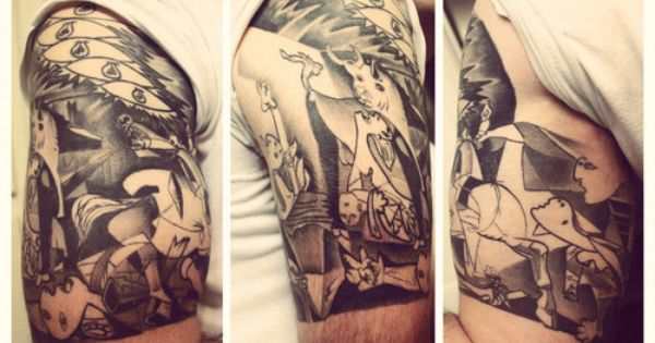 picasso 39 s guernica half sleeve tattoo ink pinterest guernica tattoo and tatoo. Black Bedroom Furniture Sets. Home Design Ideas