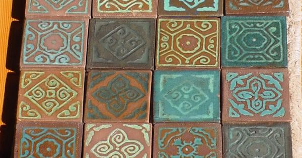 Antique tiles arts and crafts tiles california tiles for Arts and crafts style prints