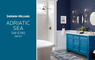 Adriatic Sea Sw 6790 Blue Paint Color Sherwin Williams Sherwin Williams Paint Colors Sherwin Williams Colors Blue Wall Colors