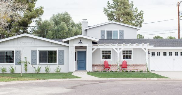 Add a pitched gable to a 70 39 s style ranch house to add for How to add curb appeal to a ranch style house