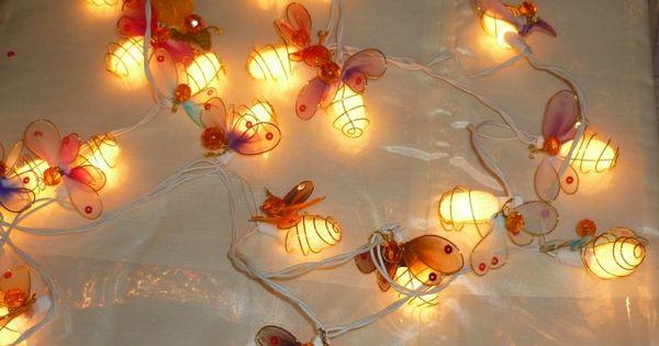 Bee String Lights Bee-lieve Pinterest String lights, Fireflies and Bees