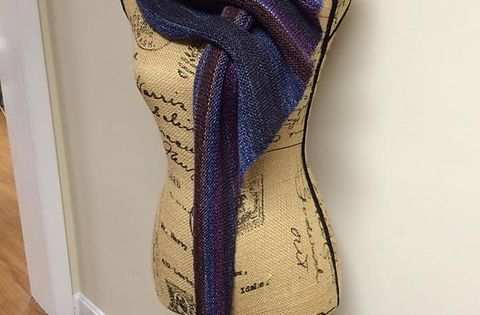 DIY Knit Slot Scarf-Knit Arrow Caterpillar Scarf (Free Pattern) Knit Pint...