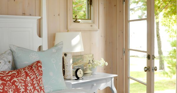 One With Nature - Tour Sarah's Summer House on HGTV. French doors