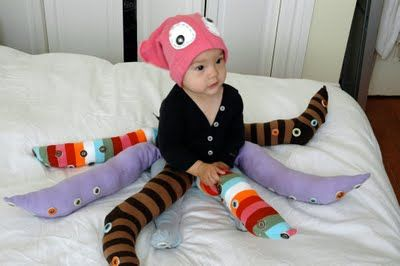 Clever DIY baby octopus costume.