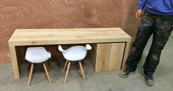 Eiken kindertafel met eames stoeltjes wonen met kinderen - Eames meubels ...