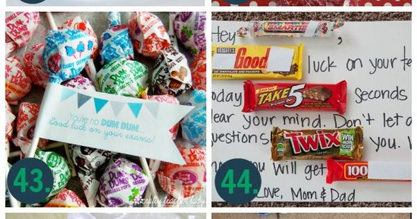 101 Ways to Say Good Luck! | Candy grams, Cheer and Volleyball