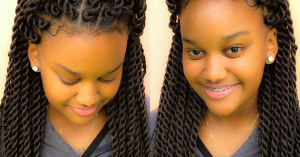 Chunky twists for the tweens! Kids hairstyles Pinterest ...