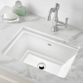 American Standard Esteem White Undermount Rectangular Bathroom Sink With Overflow Drain 19 75 In X 13 75 In Lowes Com Rectangular Sink Bathroom Sink Bathroom Sink American standard undermount bath sinks