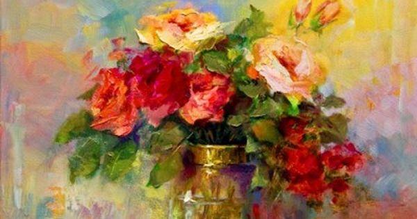 cuadros de flores al oleo abstractos