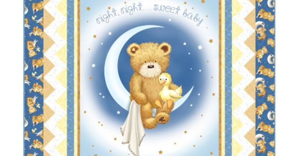 Popcorn The Bear Night Night Sweet Baby Quilt Baby And