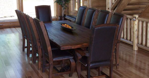 Rustic kitchen tables rustic dining room furniture for Western dining room tables