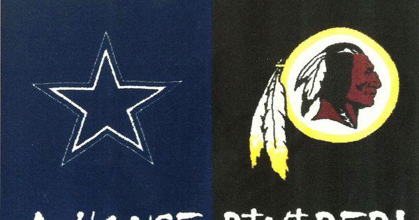 Nfl Cowboys Redskins House Divided Accent Rug