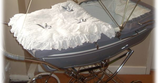 Coach built pram with canopy pram cribs pinterest - Cubrepies de cama ...