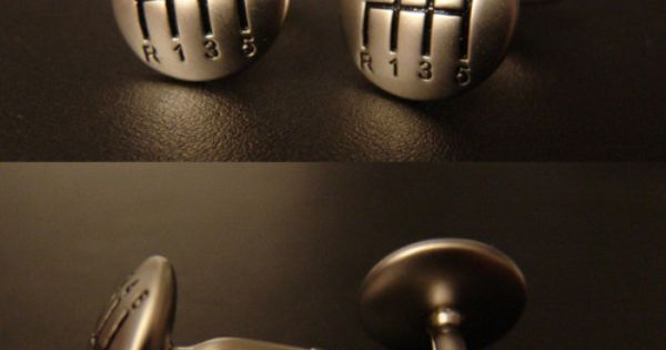 Gear Shifter Cuff Links. I admire people that can drive stick shifts.