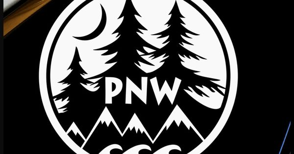 Pnw Sticker Decal Northwest Trees Mountains Nature Vinyl